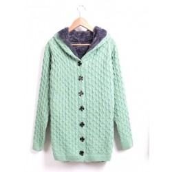 New Sweet good Plus Velvet  Hooded Sweater &Cardigan