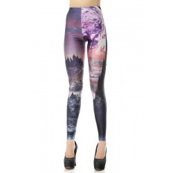 Unique Volcanoes Printed Leggings