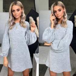 New Bottoming Shirt Women's Long Sleeve Dress Knitted Sweater