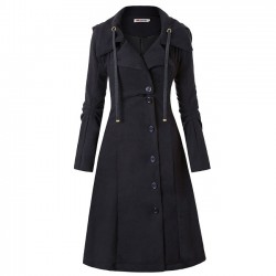 Unique Warm Irregular Long Sleeve Irregular Leisure Hem Double Sided Woolen Winter Women Coat