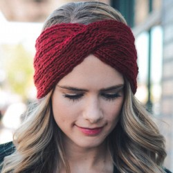 Fashion Thick Wool Diagonal Headbands Cross Hair Accessories Knitting Headband