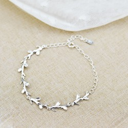 Creative Forest Style Leaves Branch Silver Bracelet Lover Gift Accessories Women Bracelet