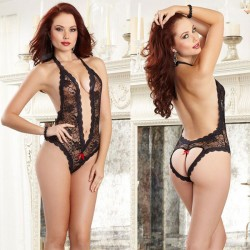 Sexy Conjoined Underwear Heart Perspective Lace Intimate Women Lingerie