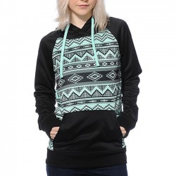 Fashion Embroidery  T-Shirt Pullover Raglan Sleeve Hoodie Sweater