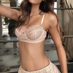 Sexy Sling Underwear Lace Mesh Perspective Bra Sets Intimate Women's Lingerie