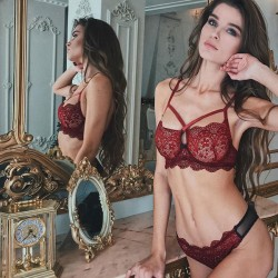 Sexy Temptation Floral Lace Hollow Underwear Bra Women Lingerie