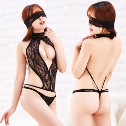 Sexy Tight Eye Mask Conjoined Lace Temptation Women Underwear Lingerie