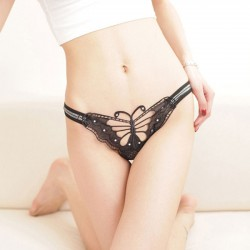 Sexy Butterfly Pants Hollow Underwear Lady Lace Women Intimate Lingerie