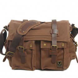 Retro Bat Leisure High-Grade Canvas Shoulder Bag