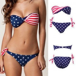 Fashion USA Flag Bikini Swimsuit