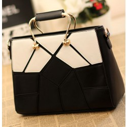Unique Black White Joint Lattice Handbags