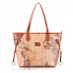 Leisure Retro World Map Handbags
