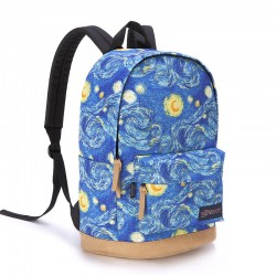 Fashion Galaxy Clouds Graffiti Canvas Backpack