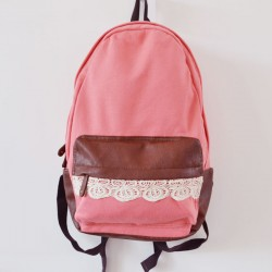 Fashion Lovely Canvas Lace Backpacks