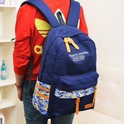 Happy Everyday Camouflage Canvas Backpack