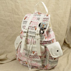 Cartoon  Letter Printing Student Backpacks