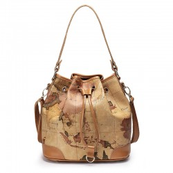 Retro Elegant World Map Handbag & Shoulder Bag