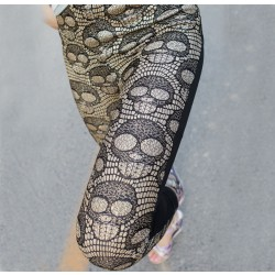 Slim Personality Skull Leather Leggings/Stockings