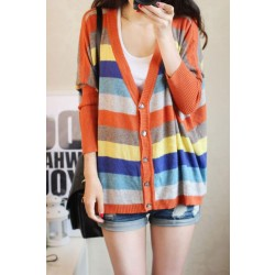 Large Loose Knit Cardigan Sweater Sunscreen Jacket