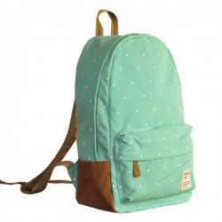 Fresh Lovely Dot Print Canvas Backpacks