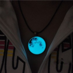 Retro Glowing Moon Luminous Pendant Original Necklace