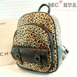 Retro Street Style Leopard Print  Backpack