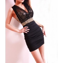 Sexy Skinny Perspective Sequined Slim Dress