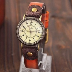 Fashion Classical Quartz Cortical Leather Waterproof Wrist Watch