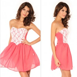 good Pink Lace Tee Dress