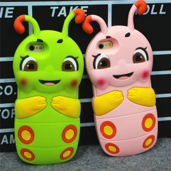 Shy Caterpillar Silicone Super Lovely Lovely IPhone 4/4s/5/5s/6/6p Cases