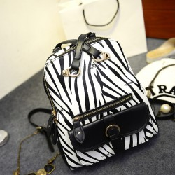 Fashion Leisure Zebra Multifunction College Backpack