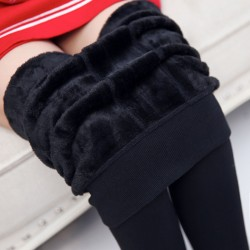 Winter Outer Wear Large Size Women's High Waist Trousers Pants Leggings