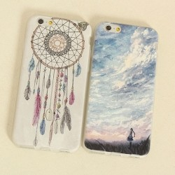 Ultra Thin Wind Chime Blue Sky Silicone Iphone 6/6s Case