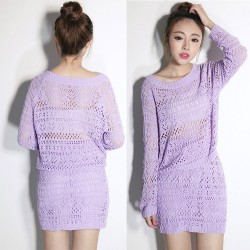 Slim Sexy Hollow Out Two-piece Sweater Dress