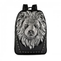 Fashion Wild Original 3D Lion-shaped Rivet Backpack