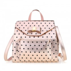 Lovely Bow Polka Dot Multifunction Handbag Shoulder Bag Messenger Bag Backpack