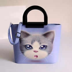 Fresh Lovely Kitten Pattern Handbag Bag Shoulder Bag Messenger Bag
