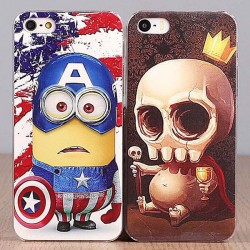 Thin Personality Minions&Skull Iphone 4/5/6/6s Case