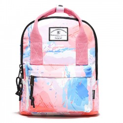 Unique Rainbow Gradient Graffiti Waterproof Multifunction Handbag Backpack