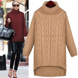 Loose Twist Knit Irregular Thick Sweater