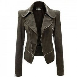 New Autumn Coat PU Cloth Motorcycle Leather Jacket  PU Leather Zipper Jacket