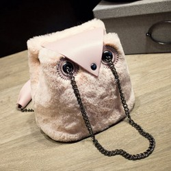 Lovely Wool Owl Shoulder Bag Chain Messenger Bag