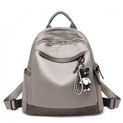 New Grey Nylon Travel Multi-function Oxford School Backpack
