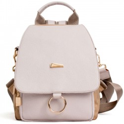 Fashion Lady Multi-function Shoulder Bag Ring PU Backpack