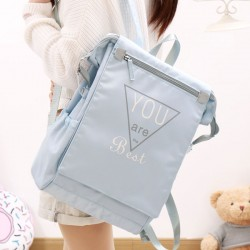 Fresh Junior High School Campus Large Canvas Square College Backpack