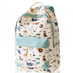 Leisure Zoo High School Rucksack Animal Paradise College Canvas Backpack