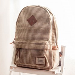 Leisure Plaid Pattern Schoolbags Backpacks