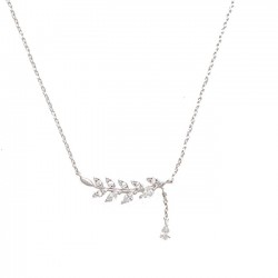 Cute Women's Accessories Leaf Summer Olive Leaves Clavicle Necklace