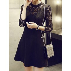 Spring New Style Slim Thin Sexy Lace Sleeve Dress