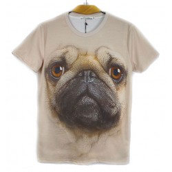 Original 3D Stereoscopic Animal Pattern Couple T-shirt